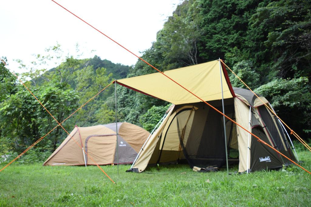 浜松の明野キャンプ場のフリーサイト