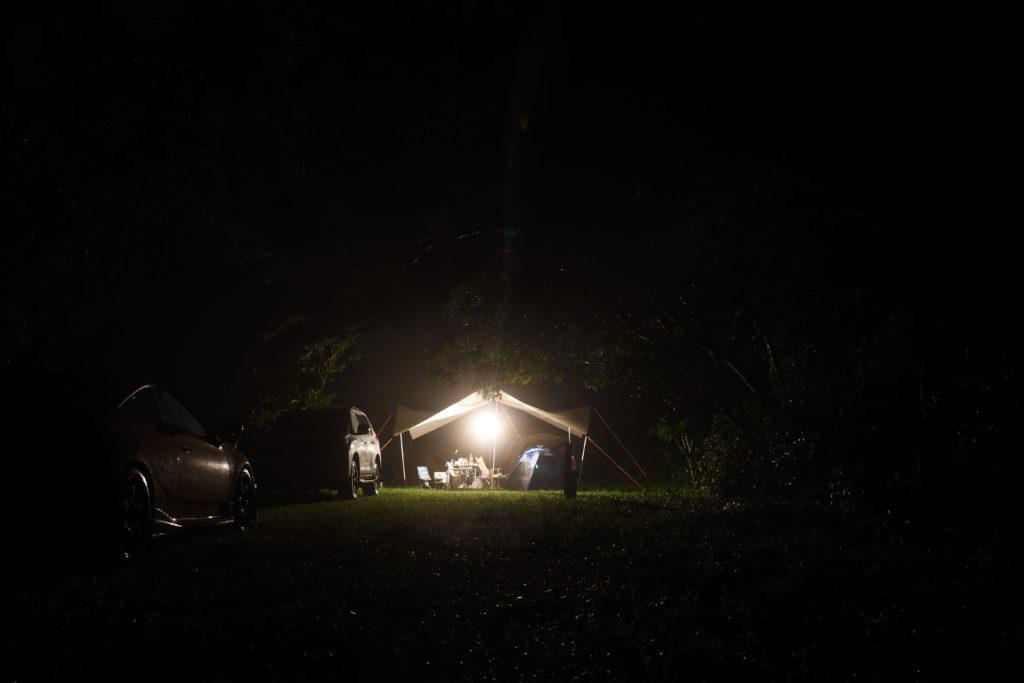 明野キャンプ場の夜