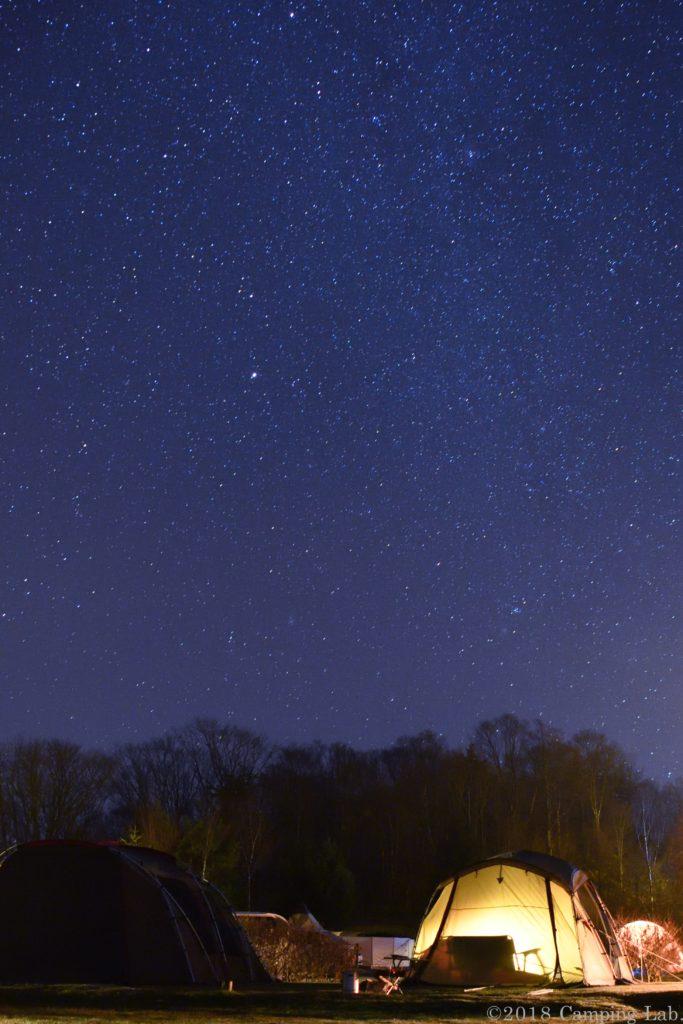 うるぎ星の森に広がる満天の星空