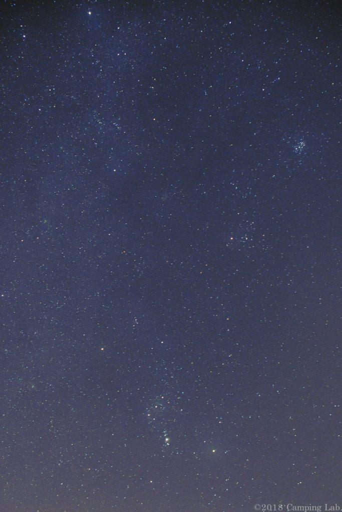 うるぎ星の森オートキャンプ場上空の星々
