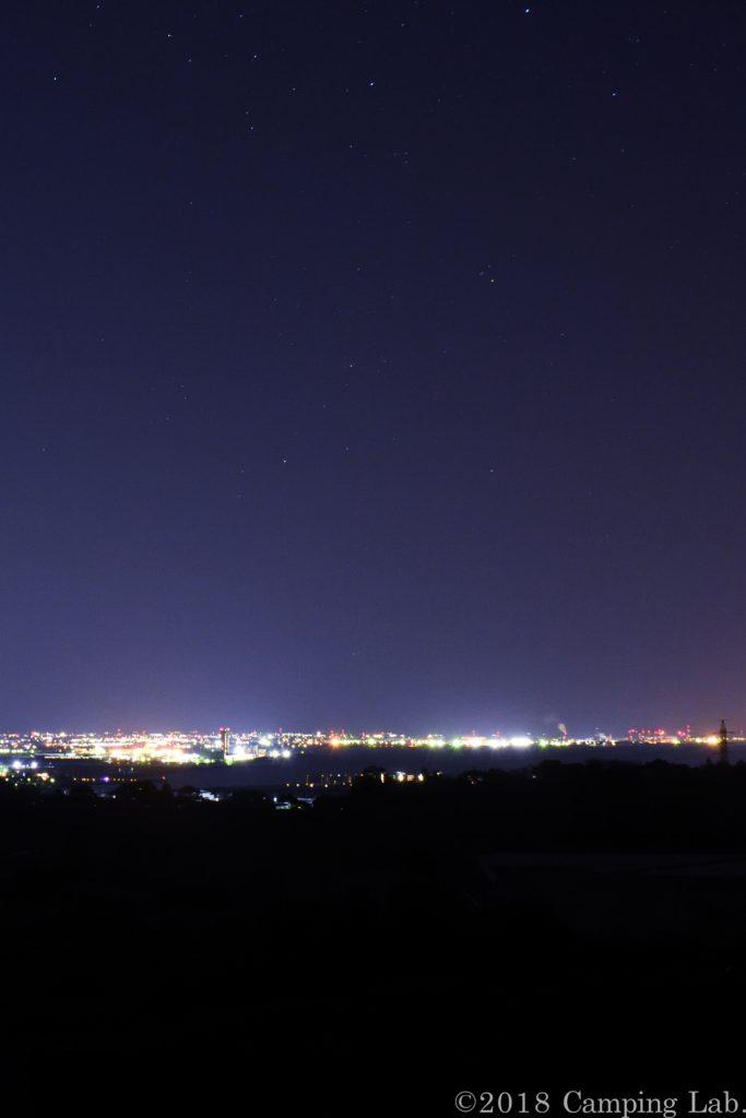 豊橋、田原方面の夜景