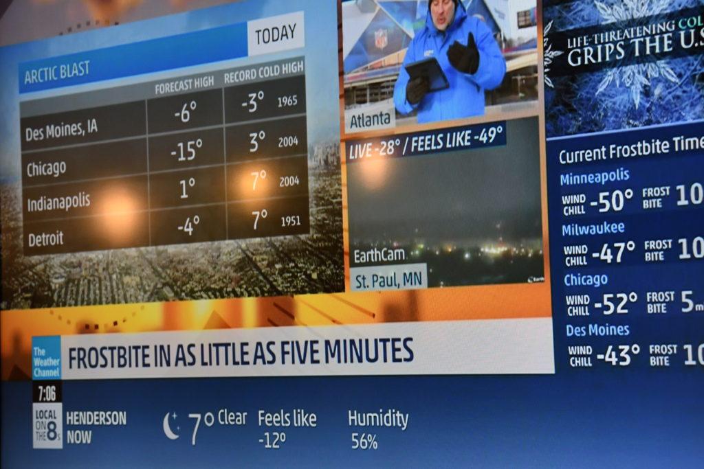 アメリカに最強寒波到来