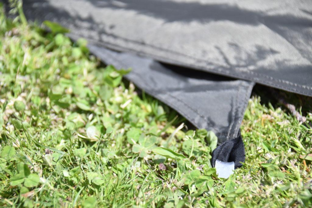 シュナーベル5のスカートをペグダウン