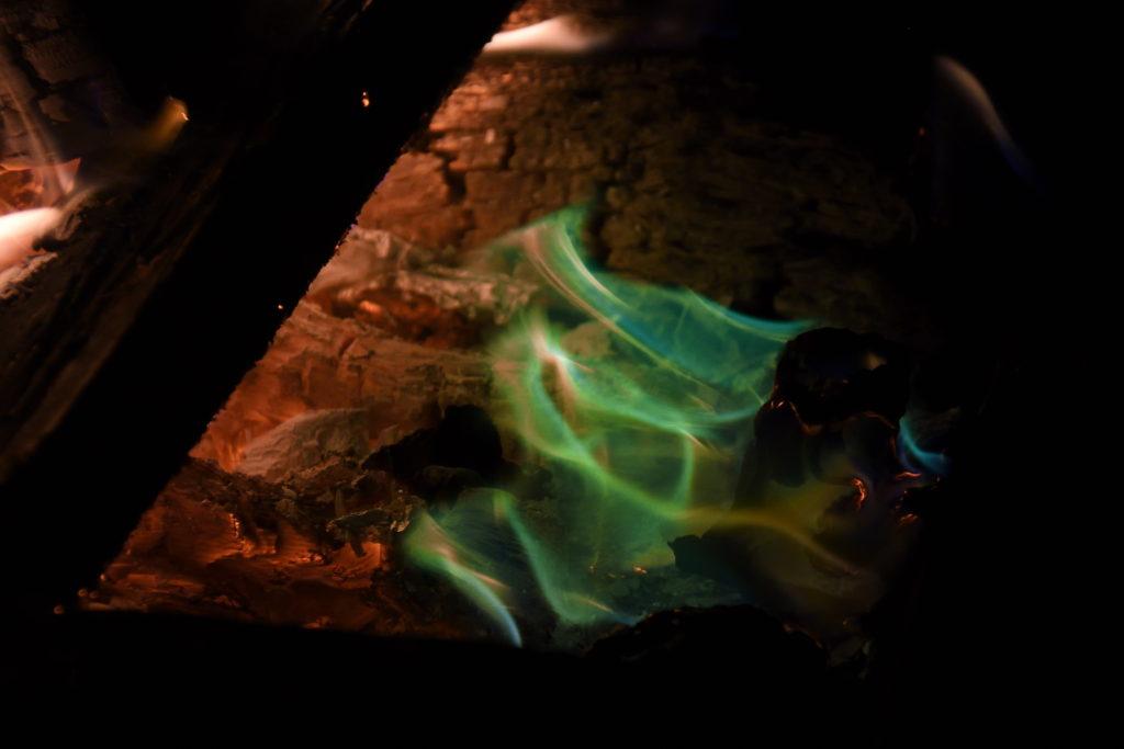 緑の焚き火