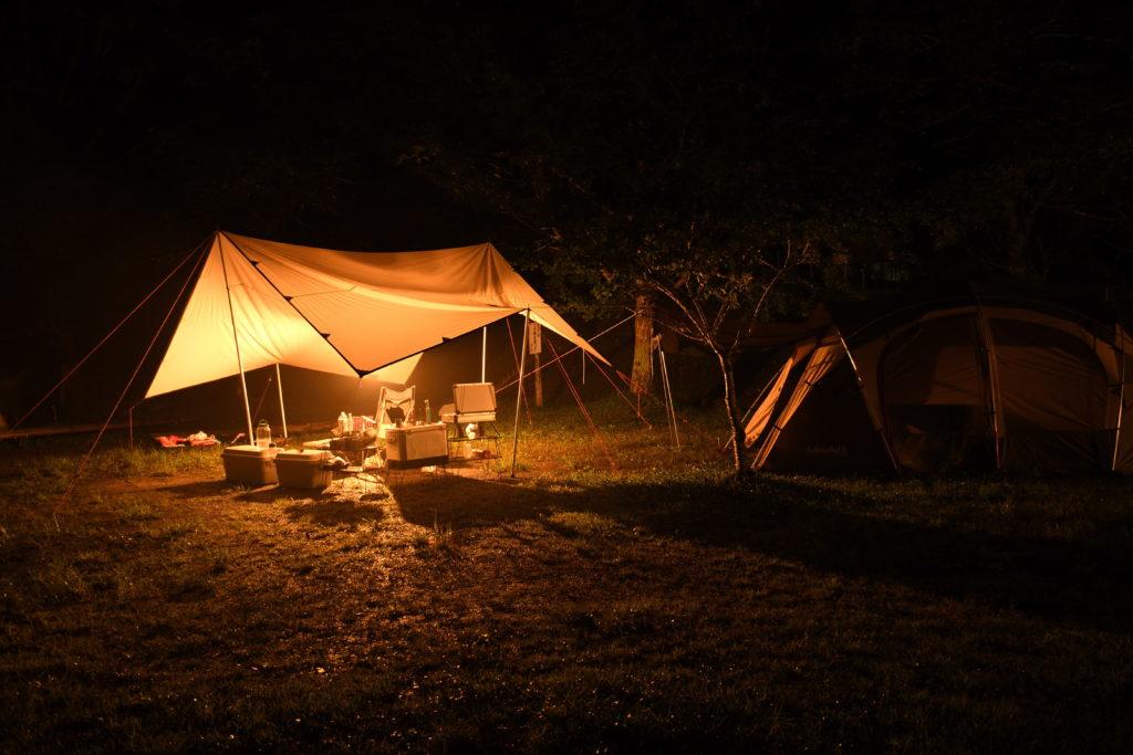 ならここキャンプ場の夜