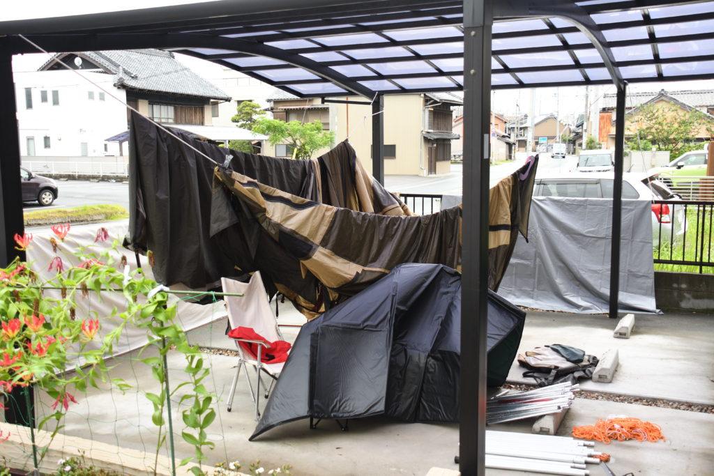 乾かないテント
