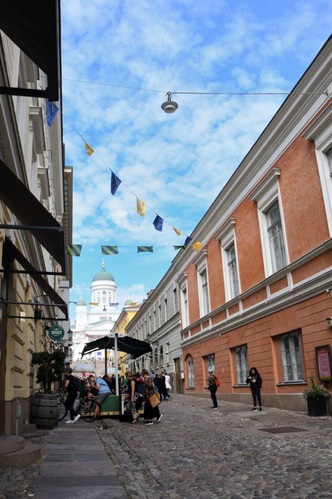 ヘルシンキ大聖堂を道路から