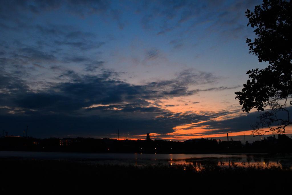 ヘルシンキの夕焼け