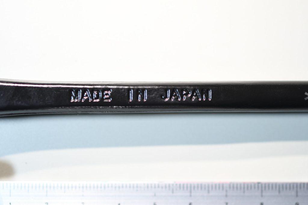 ソリッドステークの製造国の刻印