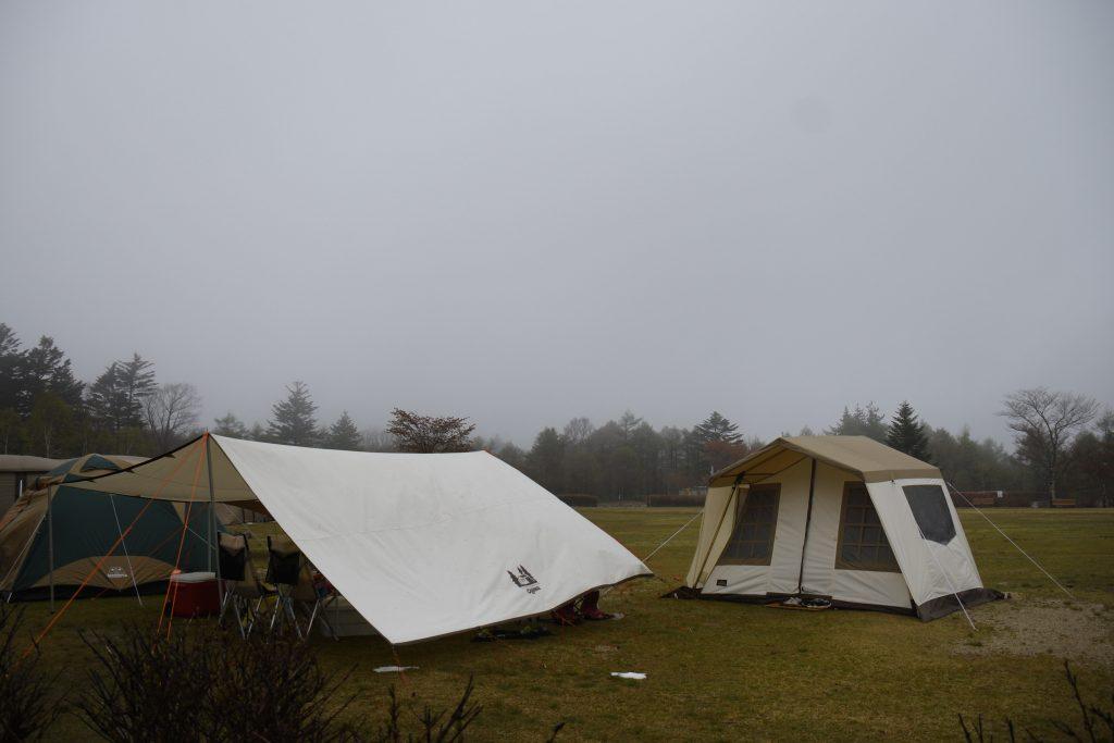 極寒のうるぎ星の森オートキャンプ場